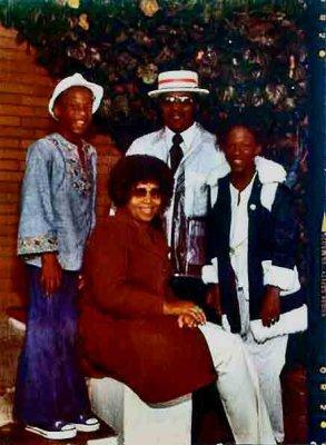 Betty, Julius, Sheila & Mark<br>1973