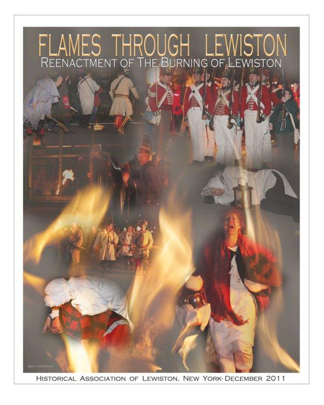 FLAMES THROUGH LEWISTON-2011-POSTER
