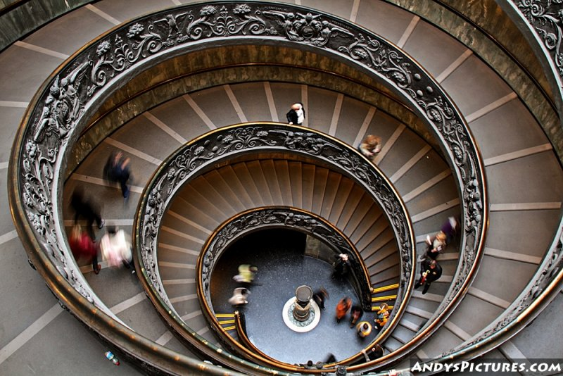 Spiral Staircase in the Vatican City Museum