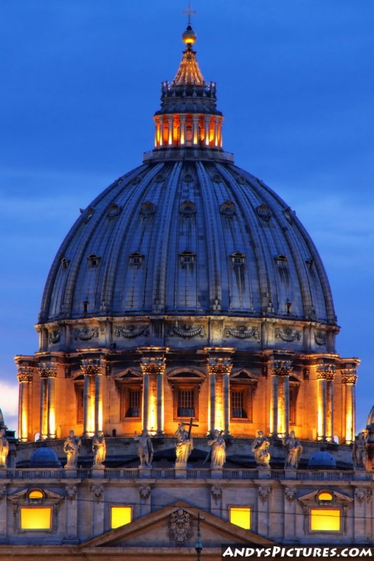 St. Peters Basilica at night