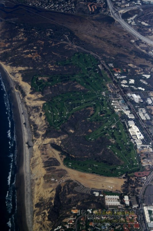 Aerial photo of Torrey Pines Golf Course
