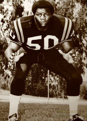 Photo of a photo of Carl Weathers at San Diego State - College Football Hall of Fame