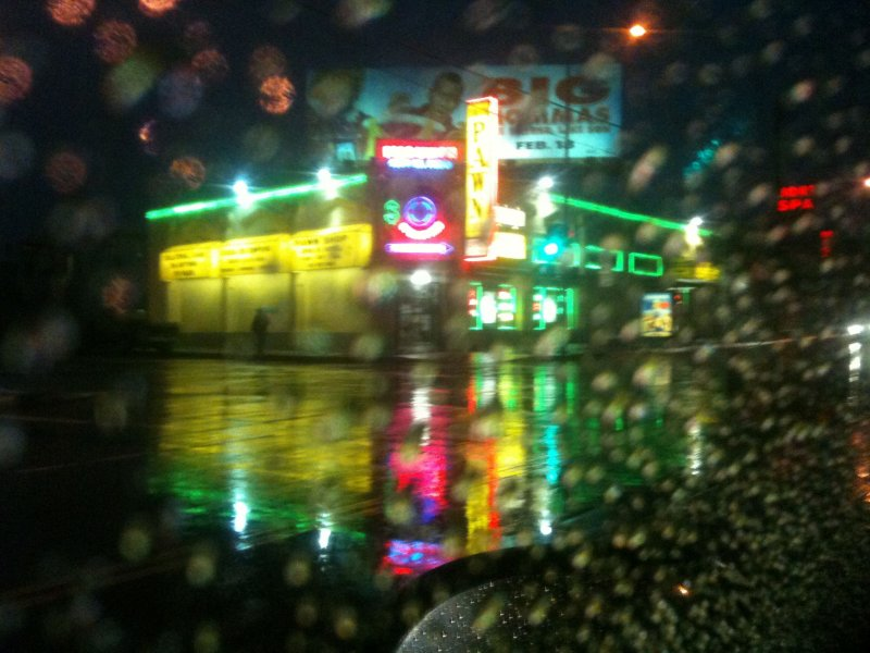 A Rainy Night in Los Angeles, Viewed from my Car