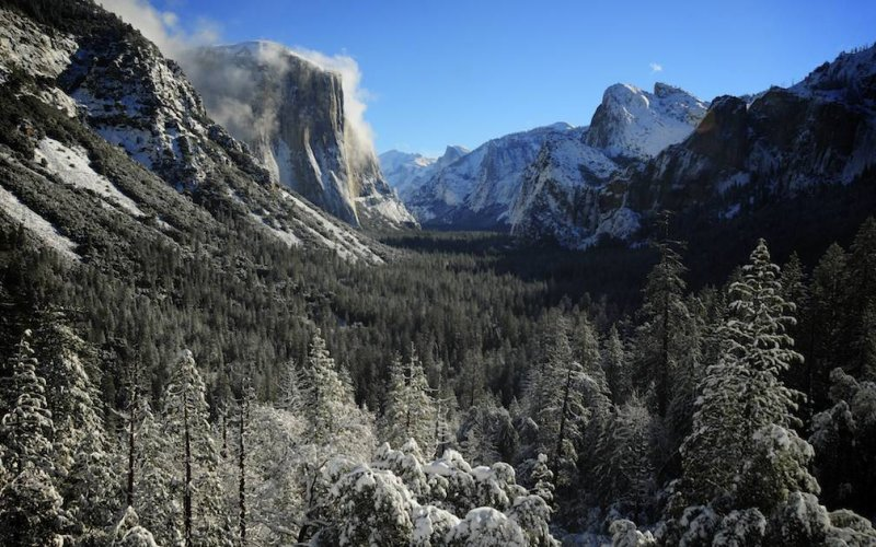 Yosemite Valley the Morning After a Storm