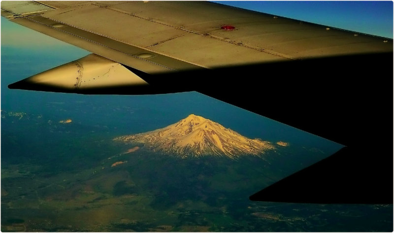 Mount Shasta from 30,000 Feet