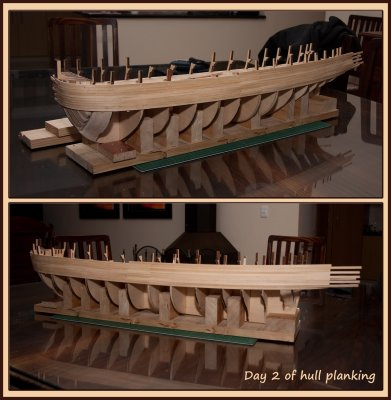 Day 2 - hull planking