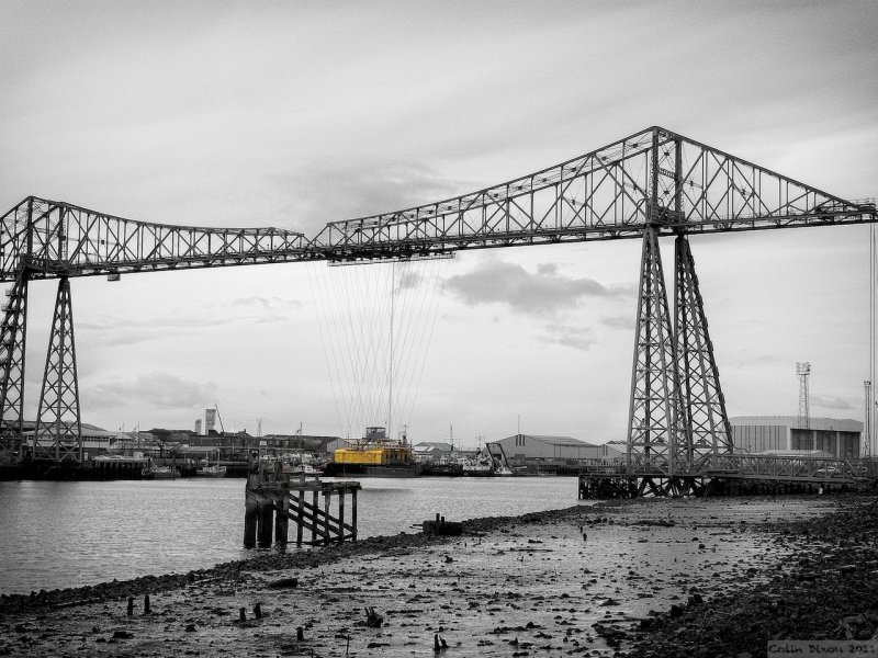 The Tees Transporter Bridge.