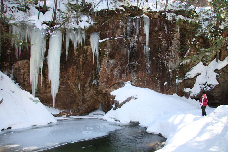 Frozen Sabbaday Falls