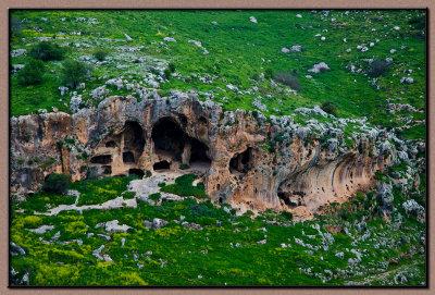 Nachal Aviv pre-historic caves