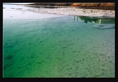Salt and emerald water