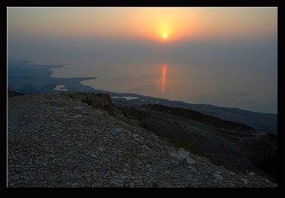 Sunrise above the mountains of Edom