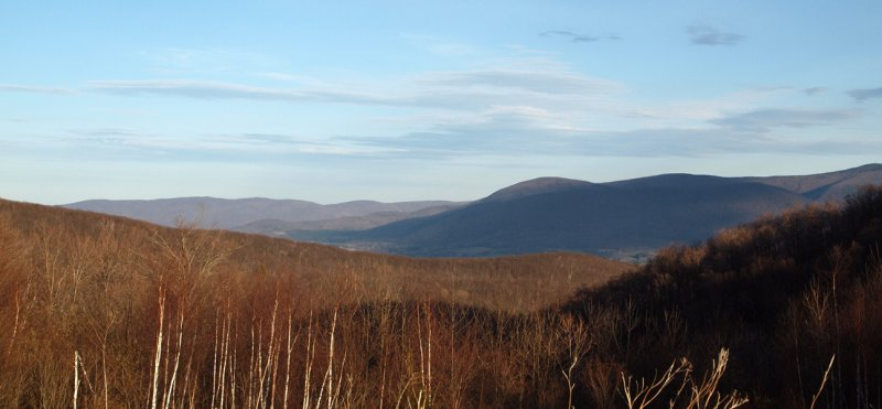 On the ridge of hills between NY and MA