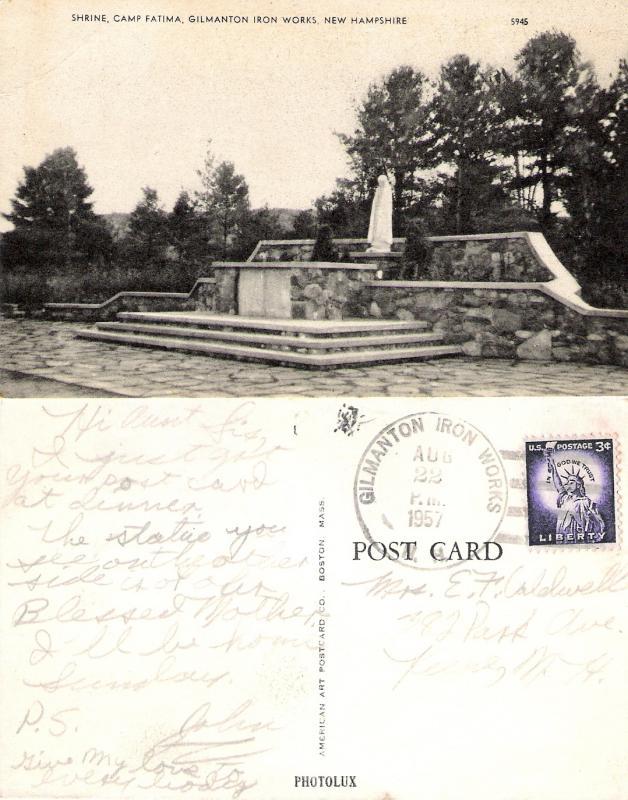 Camp Fatima (Upper Suncook) Postcard