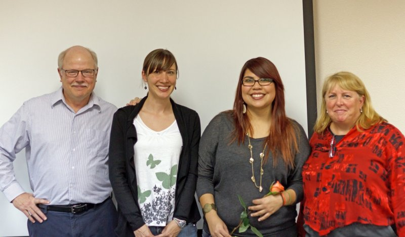 Drs. Tom Conelly and Mary Alice Scott, Ana Cardenas, and Dr. Miriam Chaiken