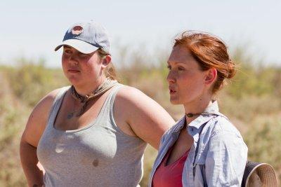 Jo Weishaar and Katherine Brooks (Archaeology field school)
