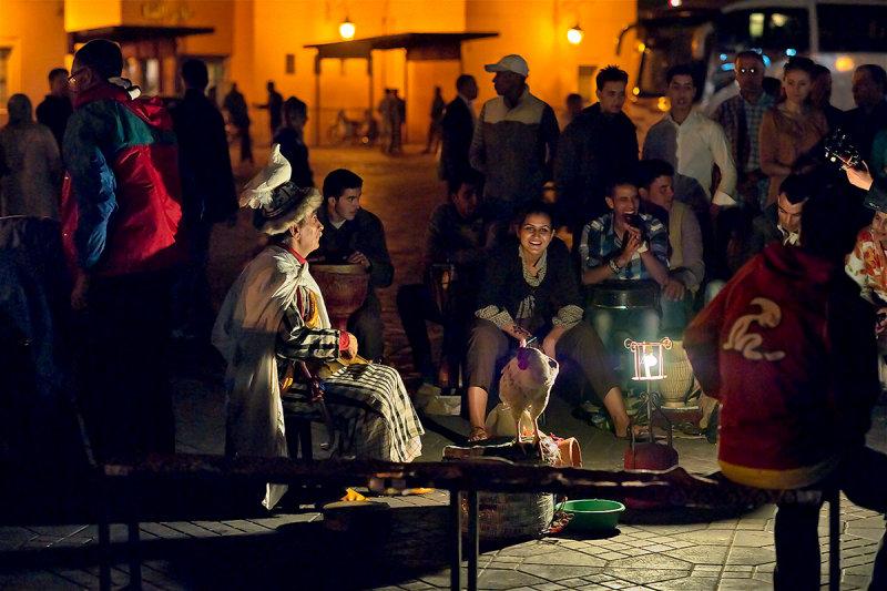 Performance at Jemaa al-Fna Square