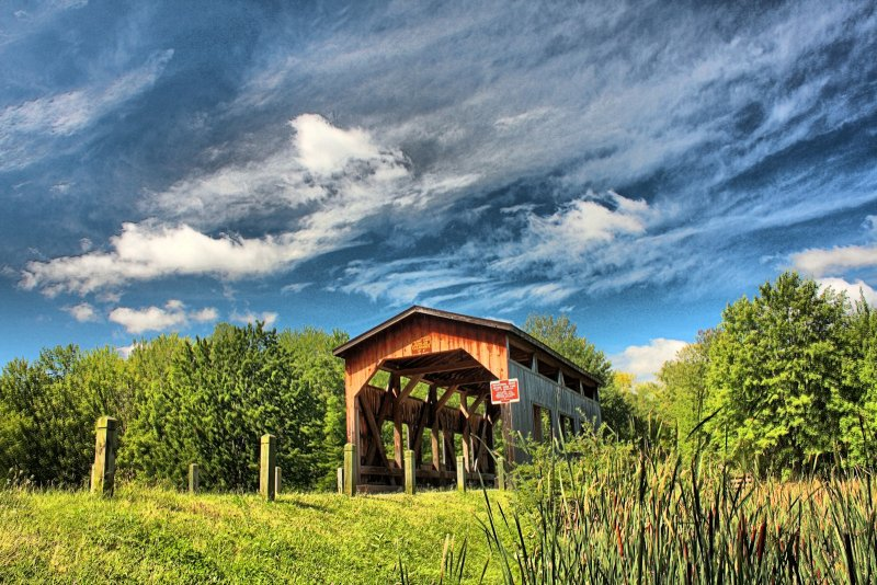 Covered Bridge in HDR<BR>September 9, 2011
