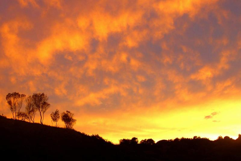 Burning sunset