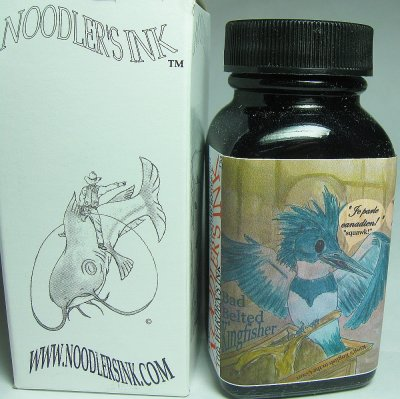 Noodler Bulletproof Ink : Bad Belted Kingfisher