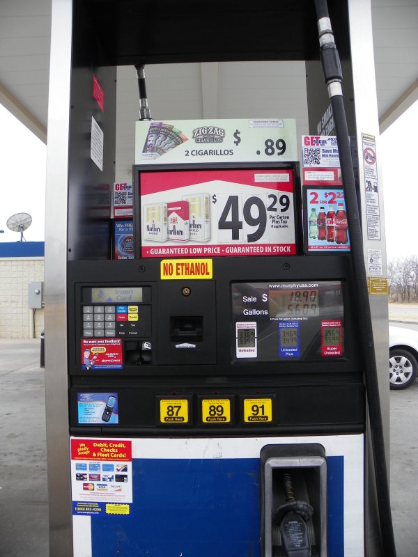 Walmart Gas Station Near Me >> Gas Pump Cigarette Prices At Wal Mart Murphy Usa 7440 Photo