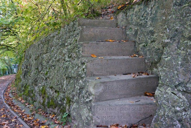 Zugang zum ehemaligen Weinberg in Dollendorf