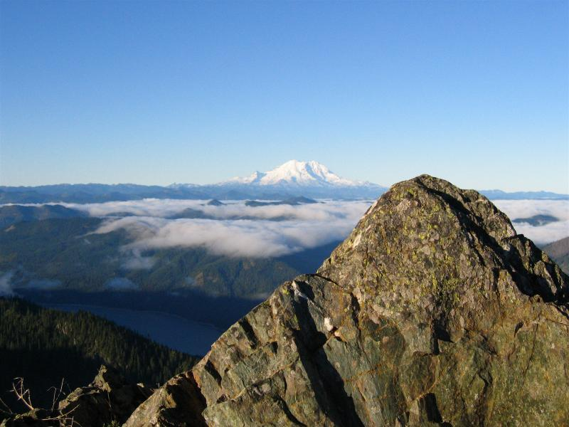 MAY<br> Mt. Rainier from the summit of Thorpe Mt.</br>