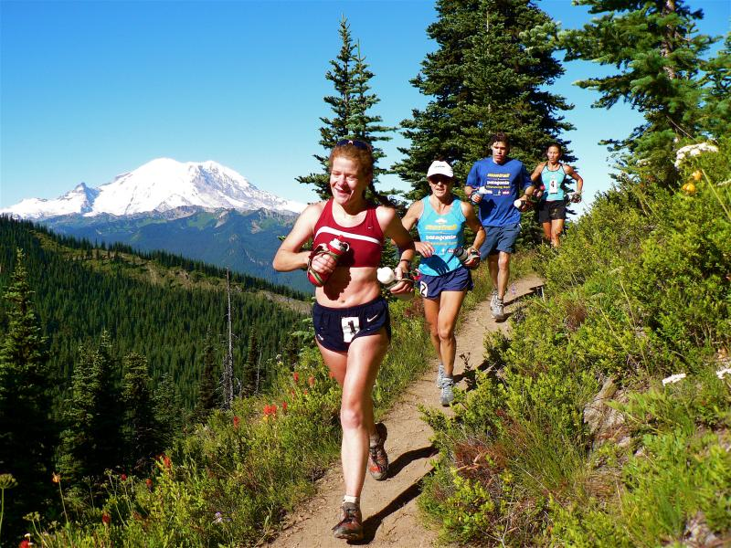 JUNE<br> Nikki Kimball leads the women at White River 50M</br>