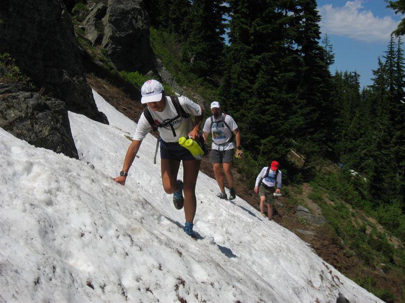 Steep snowfield