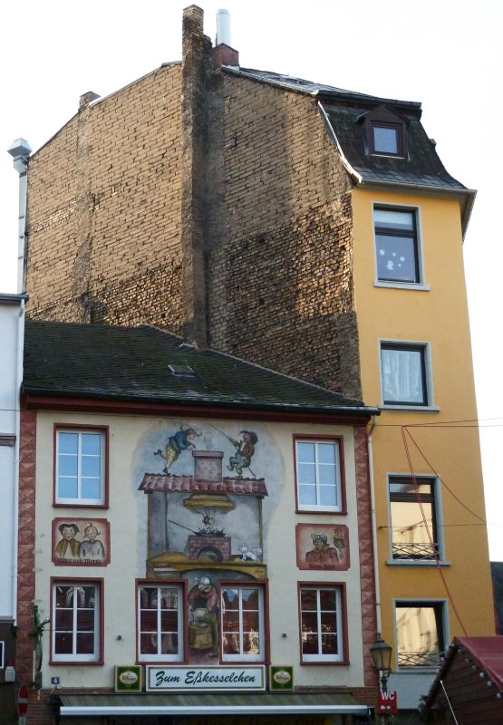 Pinting of Fable on Building in Koblenz, Germany
