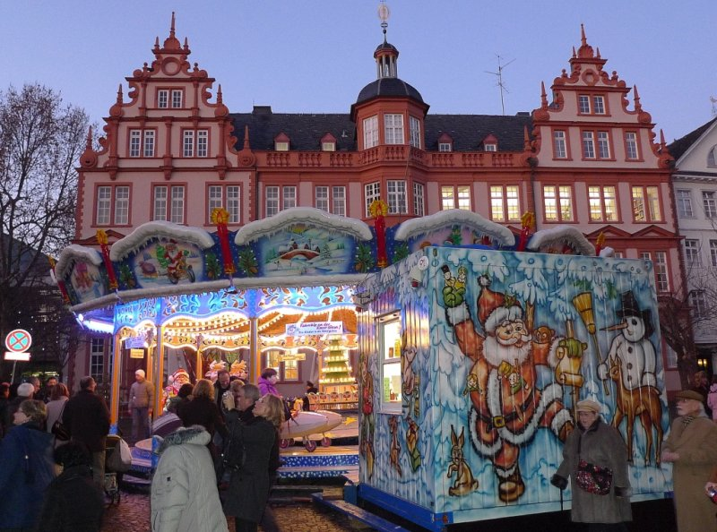 Mainz Christmas Market in Front of Gutenberg Museum