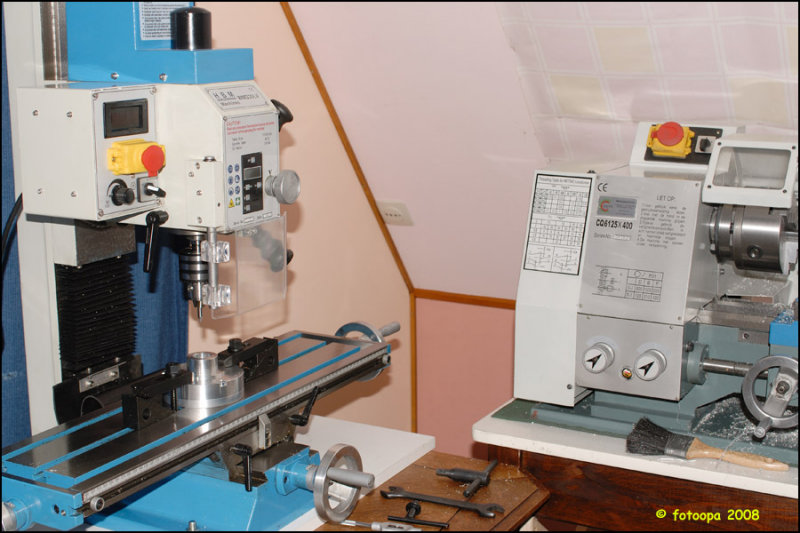 Bring into use of the new milling machine.