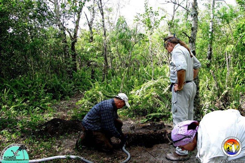 Tom Scott examining Hole.jpg