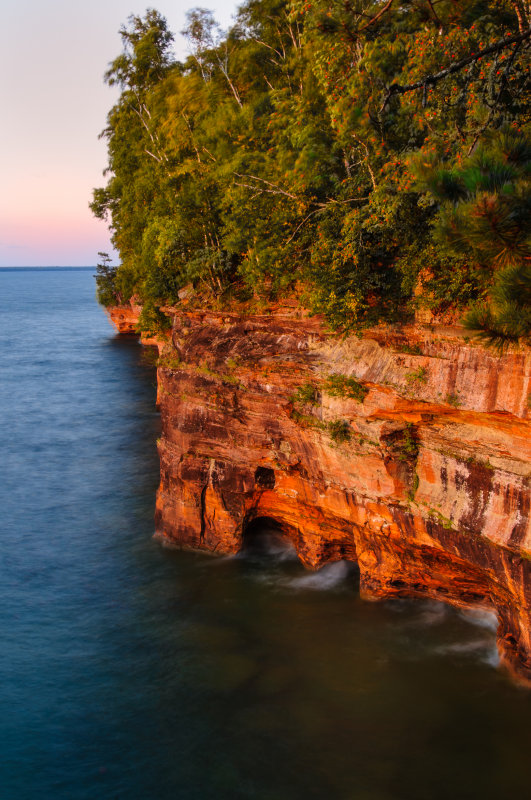 Sea Caves, after sunset