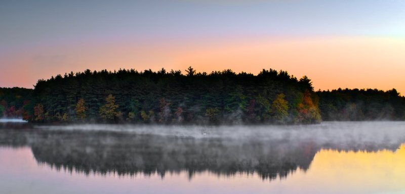 Scituate reservoir in the morning