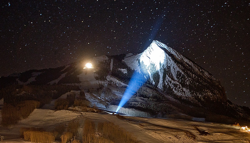 Mt. Crested Butte - Lit up for Christmas 2011