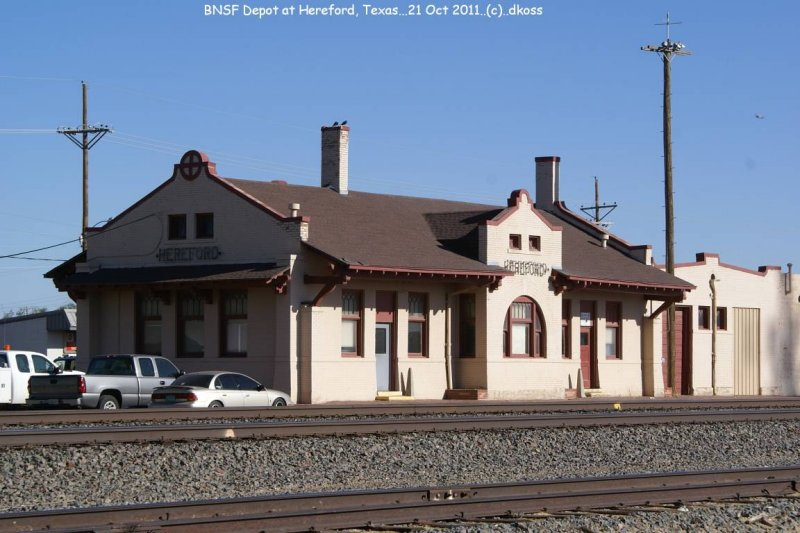 Ex- ATSF depot  of Hereford Texas, now BNSF