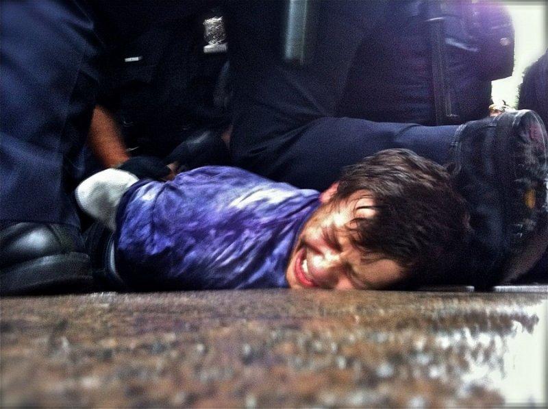 Arresting unarmed Student