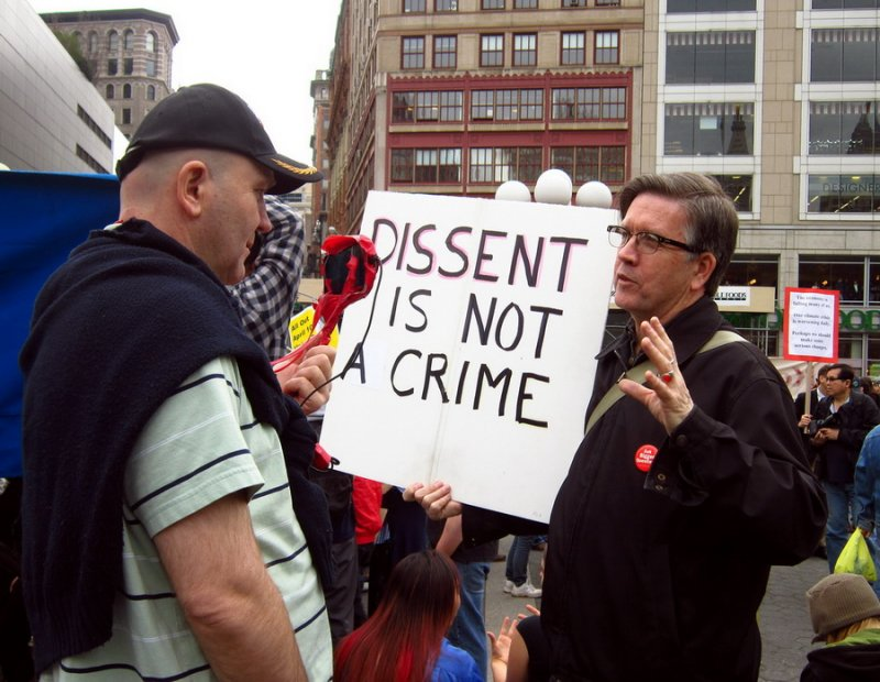Dissent is the American Way.
