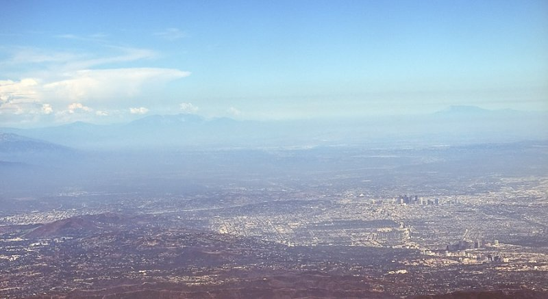 Los Angeles From Planes Window