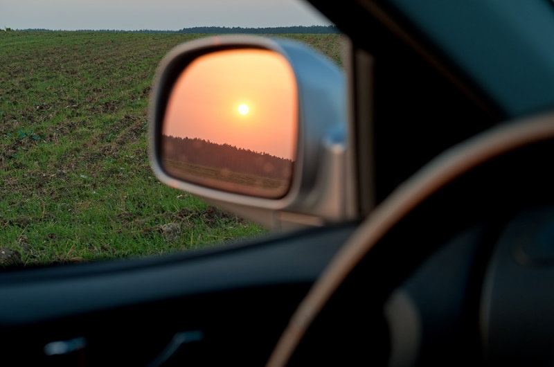 Sunset Perspectively Mirrored