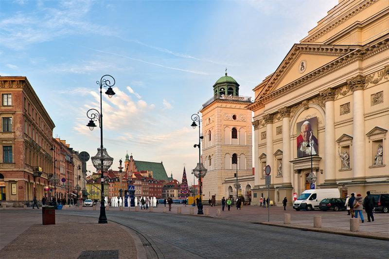 Castle Square And Krakowskie Przedmiescie