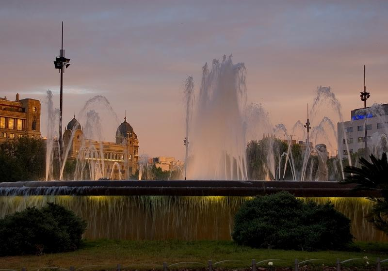 Placa De Catalunya Fountain
