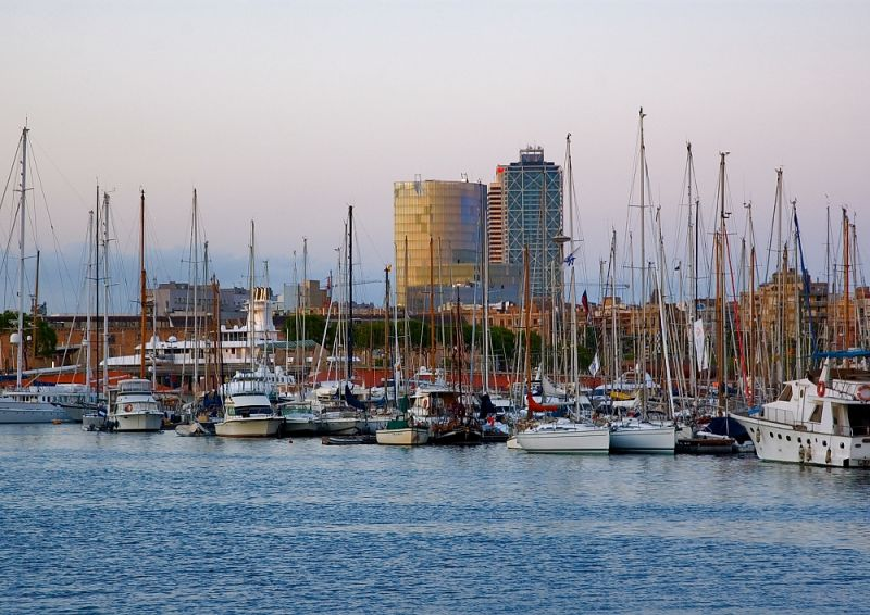 Boats In Port Vell