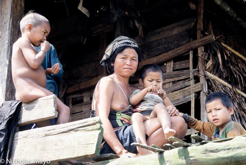 Laos (Luang Namtha) - Akha Family Scene