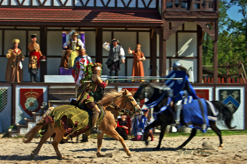 the jousting