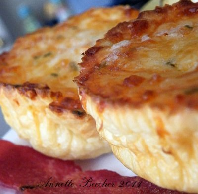 Day Eight - Cheddar & Scallion Popovers