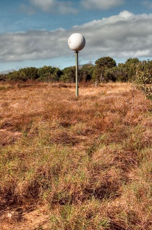 Giant golf ball