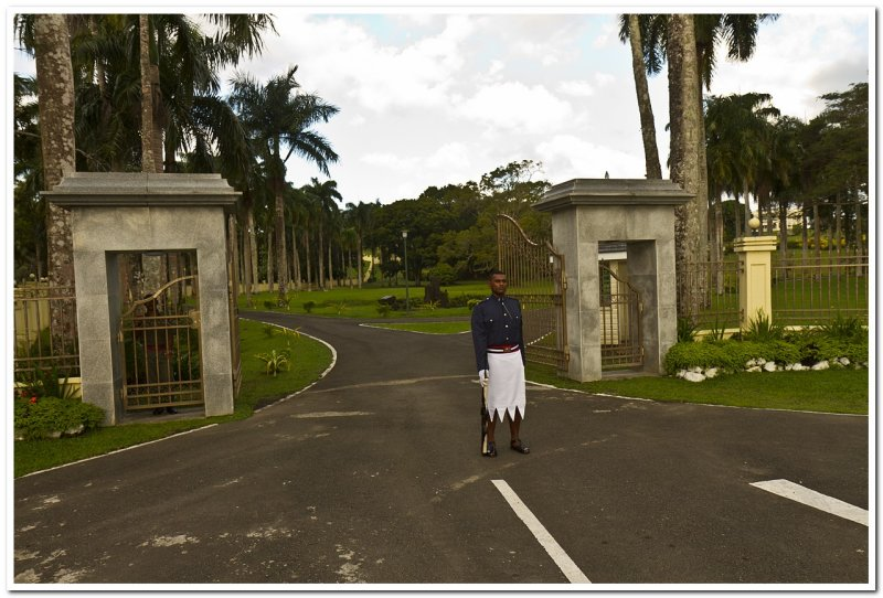 Entrance to the Presidential Palace