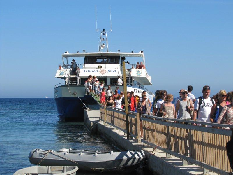 Day Trippers Returning To Playa den Bossa After A Great Day At Formentera