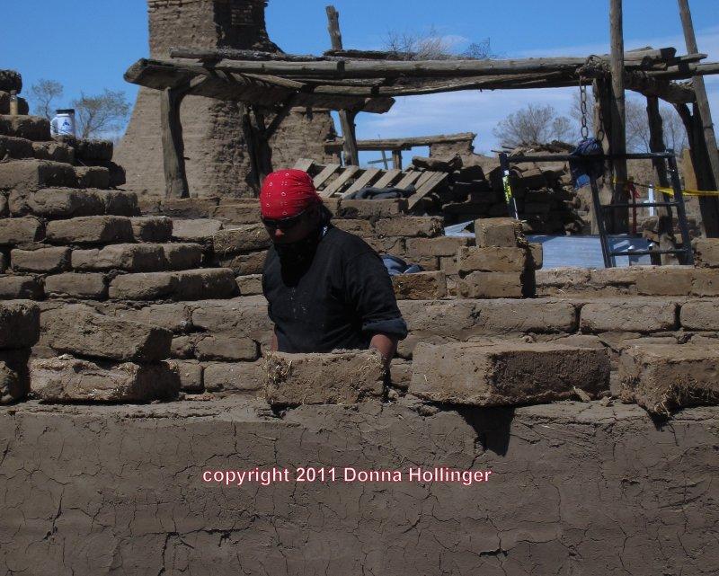 Making Adobe Bricks for Dwelling